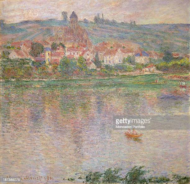 Russia Moscow Pushkin Museum of Fine Arts All The village of Vétheuil on the Seine river