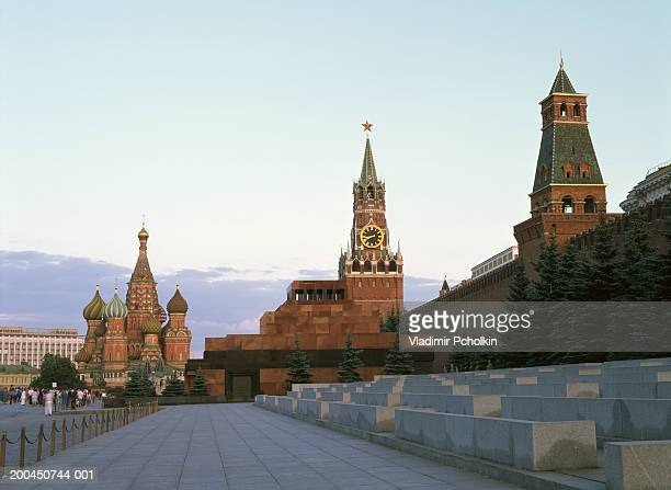 Russia, Moscow, Red Square, Kremlin and St. Basil's Cathedral, dawn