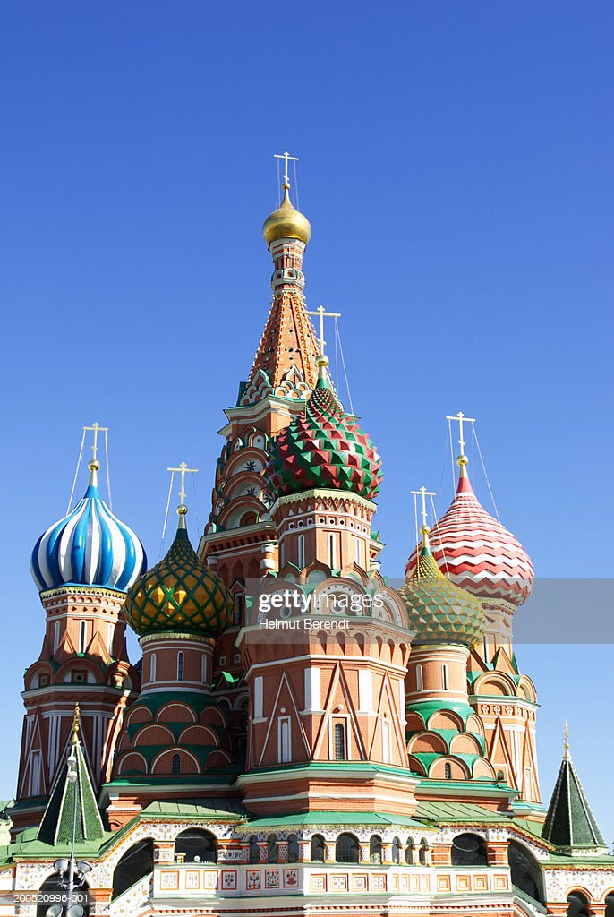 Russia, Moscow, Red Square, St Basil's Cathedral exterior : Stock Photo