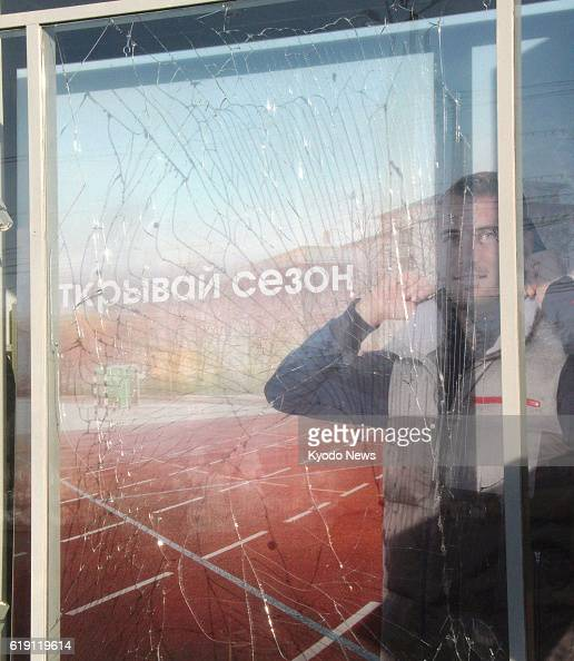 CHELYABINSK Russia Photo taken Feb 16 in Chelyabinsk Russia shows a shop window broken due to the impact of a meteor fragments of which struck the...