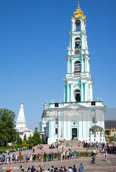 Sergiyev Posad Russia  city pictures gallery : Russia Sergiyev Posad people in the Trinity Monastery of St Sergius