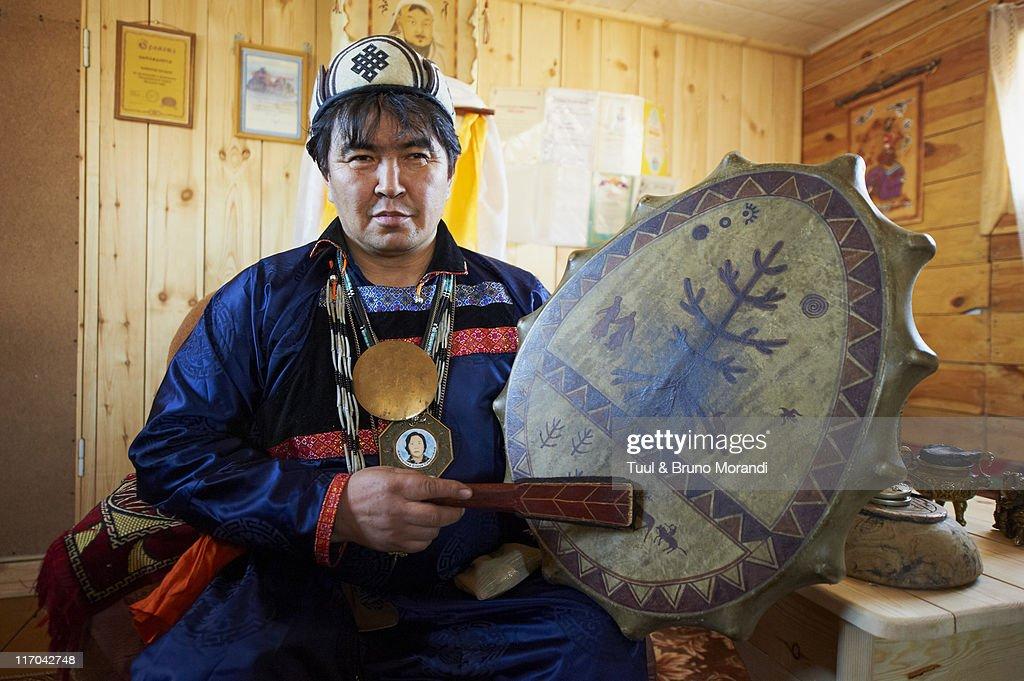 Russia, Siberia, Baikal lake, Buriate shaman