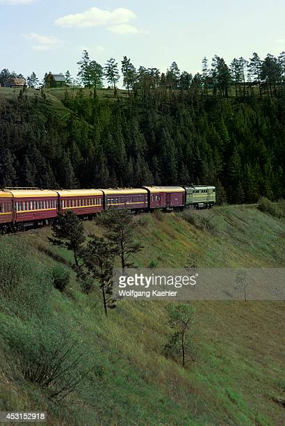 Russia Siberia Between Ulan Ude And Mongolian Border 'russia' Special Transsiberian Train