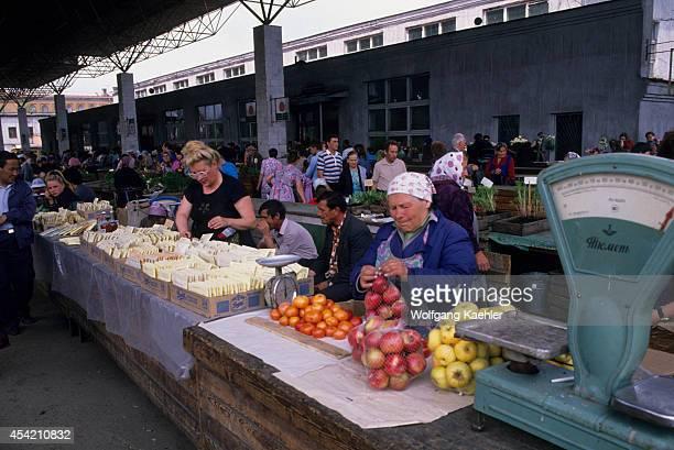 Russia Siberia Irkutsk Market Scene