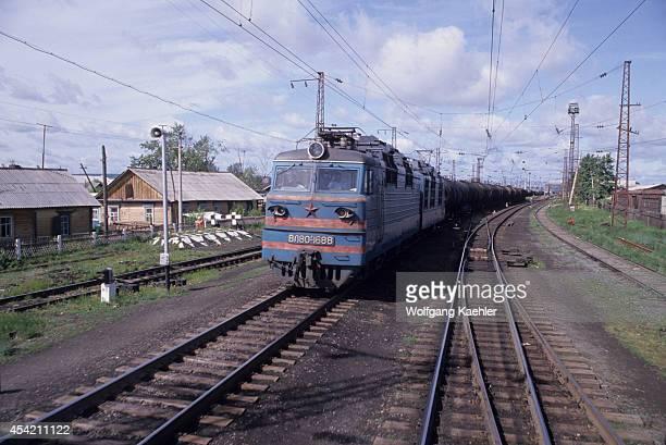 Russia Siberia Trans Siberian Railroad Between Irkutsk And Novosibirsk