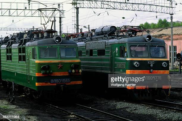 Russia Siberia Yerofei Pavlovich Electric Locomotives