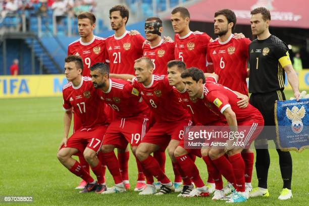 Russia Team Group during the Group A FIFA Confederations Cup Russia 2017 match between Russia and New Zealand at Saint Petersburg Stadium on June 17...