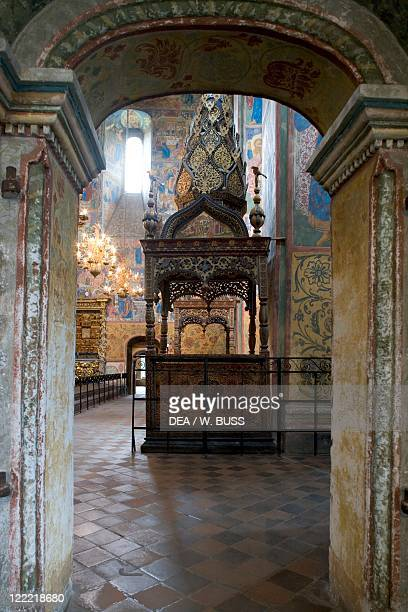 Russia Yaroslavl church of Elijah Prophet interior