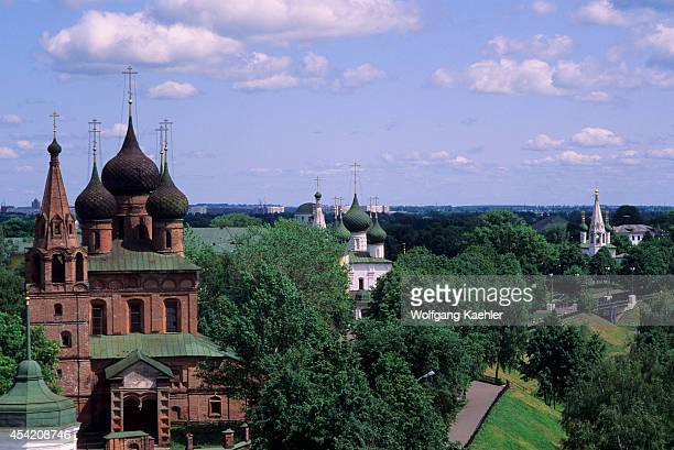 Russia Yaroslavl Monastery Of The Transfiguration Of The Savior View From Bell Tower