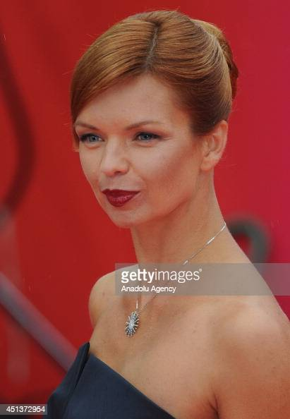 Russian actress Alisa Grebenshikova poses on the red carpet during the closing ceremony of the 36th Moscow International Film Festival in Moscow...