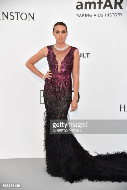 Russian actress Anna SchaferAnissimova poses as she arrives for the amfAR's 24th Cinema Against AIDS Gala on May 25 2017 at the Hotel du CapEdenRoc...
