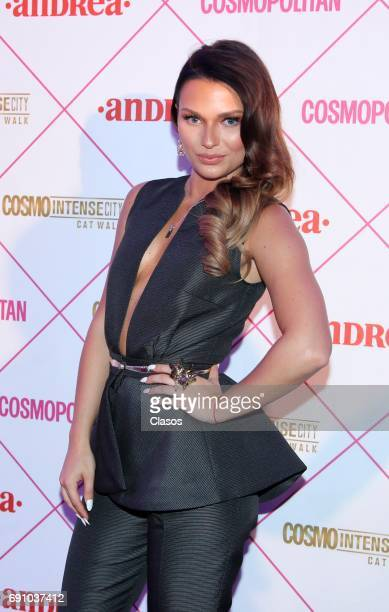 Russian actress Irina Baeva poses during the Cosmo Fashion Night Red Carpet on May 30 2017 in Mexico City Mexico