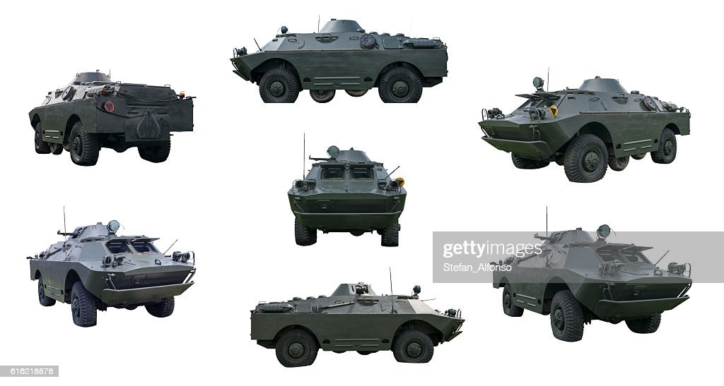 Russian armored car isolated on white : Stock Photo