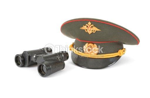 281e21871 Russian Army Field Binocular And Military Cap Stock Photo | Thinkstock