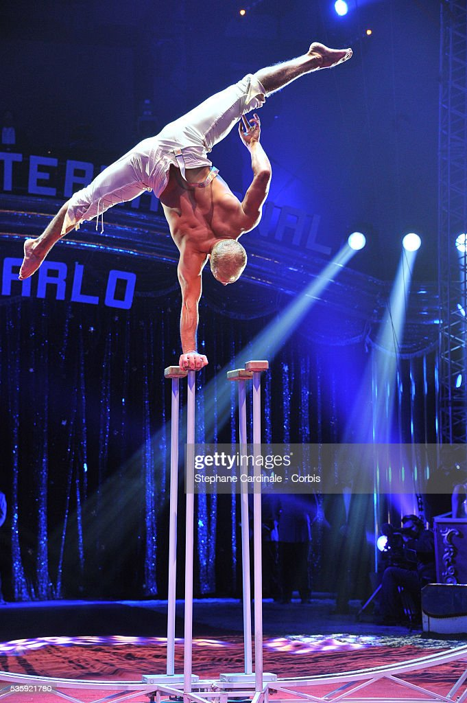 Russian artist Roman Khapersky performs during the opening ceremony of the Monte-Carlo 35th International Circus Festival 2011, in Monaco.