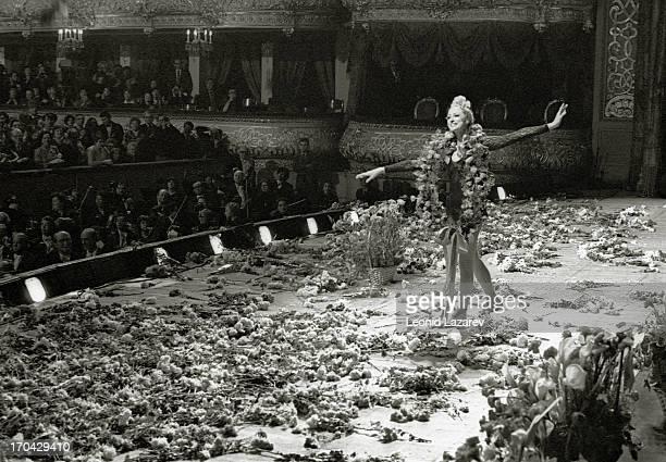 Russian ballerina Maya Mikhaylovna Plisetskaya at the Bolshoi Theater Moscow 1980