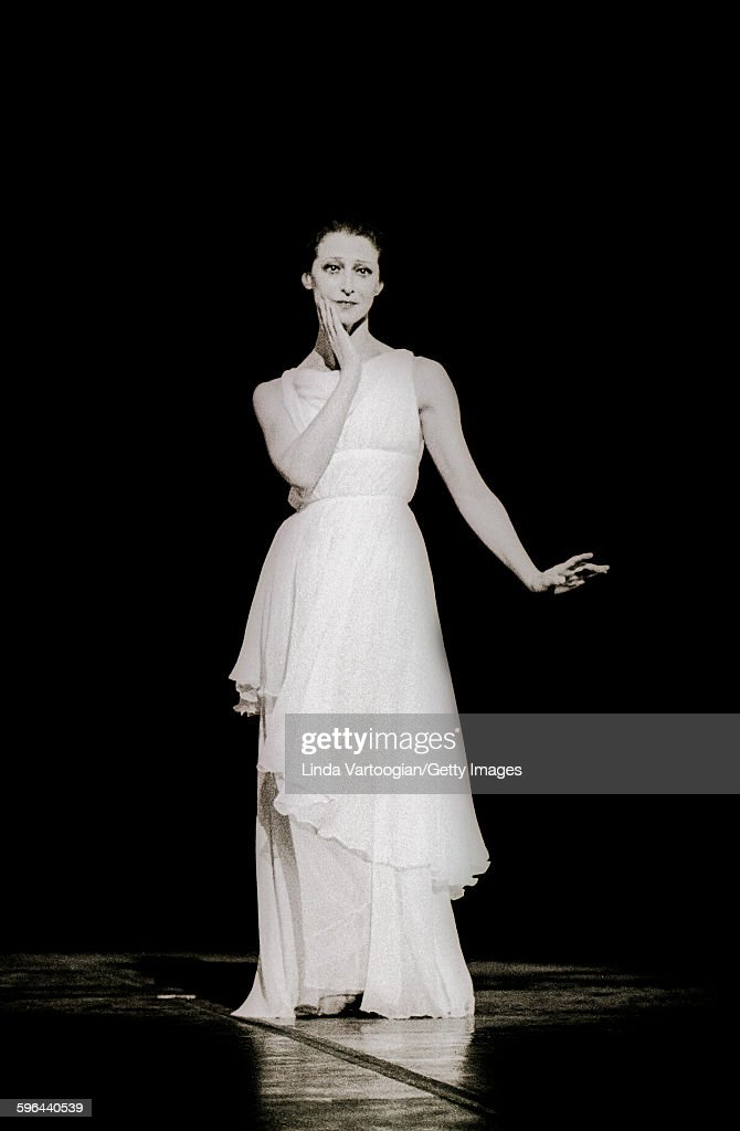 Russian ballerina <a gi-track='captionPersonalityLinkClicked' href=/galleries/search?phrase=Maya+Plisetskaya&family=editorial&specificpeople=763156 ng-click='$event.stopPropagation()'>Maya Plisetskaya</a> (1925 - 2015) performs in Maurice Bejart's 'Isadora' with the Bejart Ballet of the XXth Century at the Uris Theatre, New York, New York, March 22, 1977.