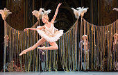 Russian ballerina Veronika Ignatyeva of the Mikhailovsky Ballet of St Petersburg performs at a dress rehearsal for the first US performance of 'The...