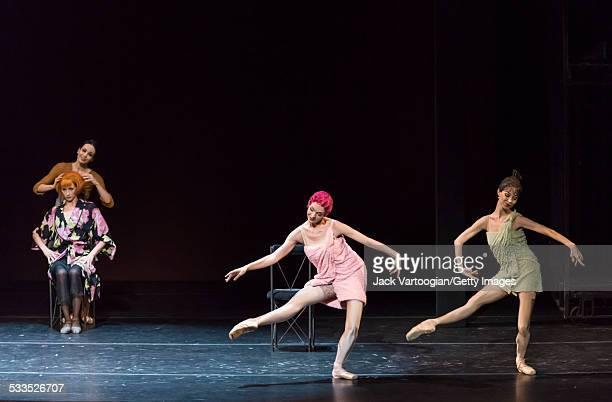 Russian ballerinas Diana Vishneva as 'Cinderella' Yekaterina Kondaurova as the 'Stepmother' Yekaterina Ivannikova as the stepsister 'Kubishka' and...