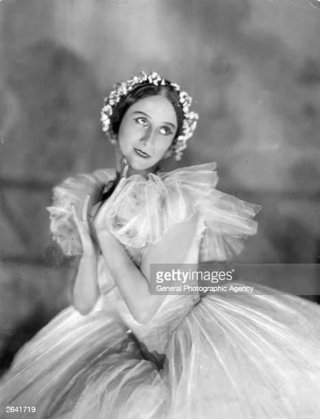 Russian ballet dancer Anna Pavlova in costume