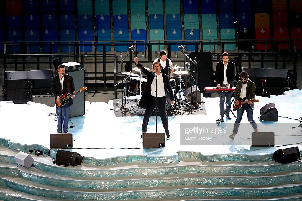 Russian band Tokio performs during the Opening Ceremony of the Sochi 2014 Winter Olympics at Fisht Olympic Stadium on February 7 2014 in Sochi Russia