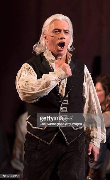 Russian baritone Dmitri Hvorostovsky performs at the final dress rehearsal prior to the season premiere of the Metropolitan Opera/Sir David McVicar...