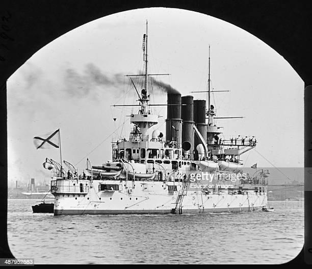 Russian Battleship Retvizan Vintage Photograph