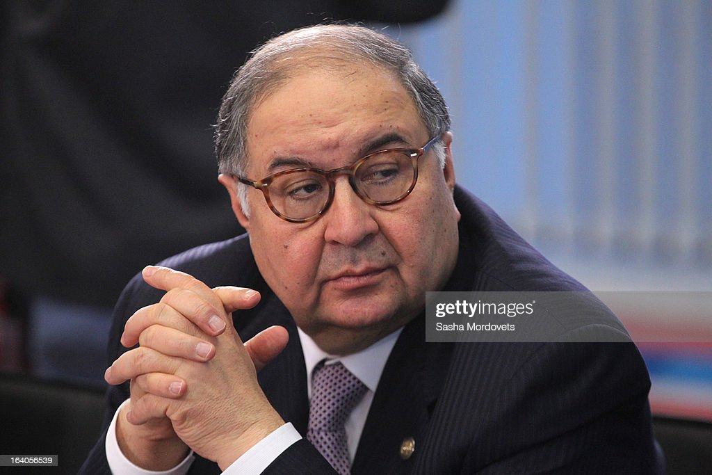 Russian billionaire and businessman <a gi-track='captionPersonalityLinkClicked' href=/galleries/search?phrase=Alisher+Usmanov&family=editorial&specificpeople=5595265 ng-click='$event.stopPropagation()'>Alisher Usmanov</a> attends a meeting during a tour of the venues for the 2013 Summer Universiade March 19, 2013 in Kazan, Russia. The XXVII Summer Universiade, a sporting event for university athletes, will be held in Kazan, the capital of the Russian Republic of Tatarstan.