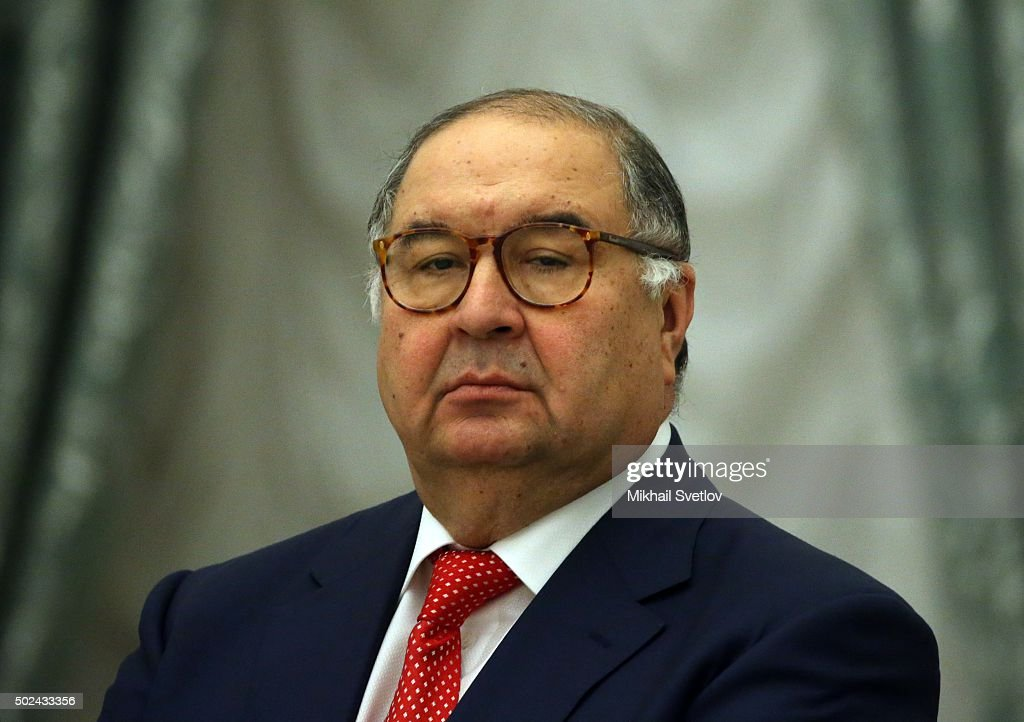 Russian billionaire and businessman <a gi-track='captionPersonalityLinkClicked' href=/galleries/search?phrase=Alisher+Usmanov&family=editorial&specificpeople=5595265 ng-click='$event.stopPropagation()'>Alisher Usmanov</a> attends a meeting of business community representatives in the Kremlin, on December 24, 2015 in Moscow, Russia.