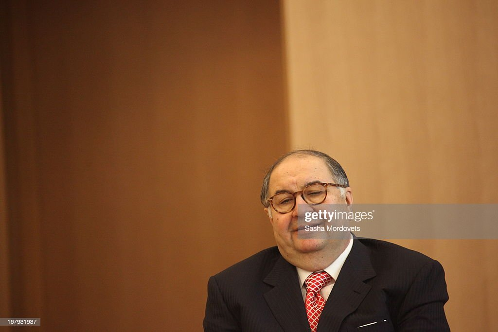Russian billionaire and businessman <a gi-track='captionPersonalityLinkClicked' href=/galleries/search?phrase=Alisher+Usmanov&family=editorial&specificpeople=5595265 ng-click='$event.stopPropagation()'>Alisher Usmanov</a> attends the opening of the new Mariinsky II Theatre May 2, 2013 in St. Petersburg, Russia. The theater seats 2000 and cost $700 million to build.