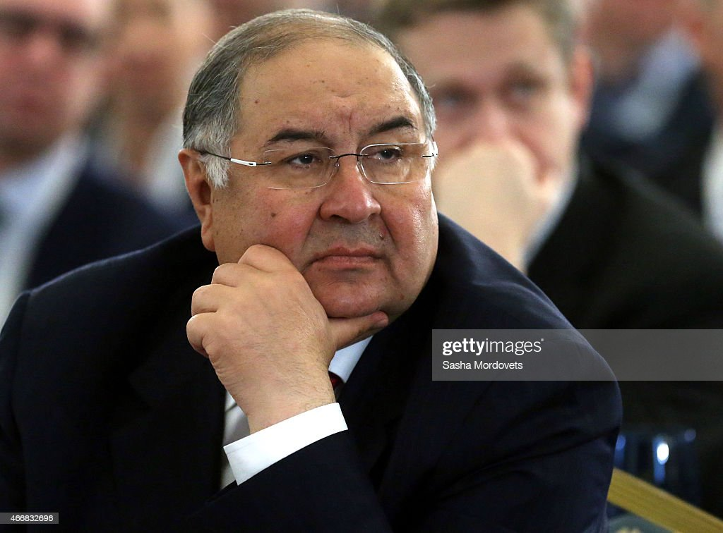 Russian billionaire and businessman <a gi-track='captionPersonalityLinkClicked' href=/galleries/search?phrase=Alisher+Usmanov&family=editorial&specificpeople=5595265 ng-click='$event.stopPropagation()'>Alisher Usmanov</a> the congress of Russian Union of Industrialists and Entrepreneurs on March 19, 2015 in Moscow, Russia.
