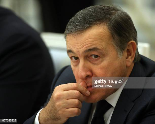 Russian billionaire and businessman Aras Agalarov attends the council on sport development at the Kremlin Palace in Moscow Russia October2017...