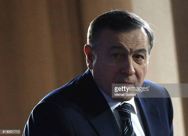 Russian billionaire and businessman Aras Agalarov attends the Forum of Actions held by AllRussia People's Front on October 2016 in Yalta Crimea...