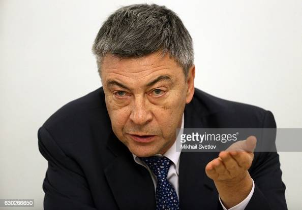 Russian billionaire and businessman Gazprombank Chairman Andrei Akimov attends meeting with representatives of business community and business...