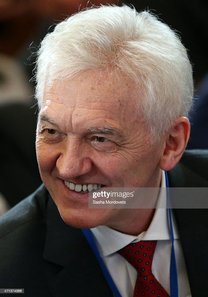 Russian billionaire and businessman <a gi-track='captionPersonalityLinkClicked' href=/galleries/search?phrase=Gennady+Timchenko&family=editorial&specificpeople=10841361 ng-click='$event.stopPropagation()'>Gennady Timchenko</a> attends a meeting of the Russian Geographical Society's Board of Trustees on April 27, 2015 in St. Petersburg, Russia. Russian President Vladimir Putin, in an interview broadcast Sunday to mark 15 years in power, said he has no regrets over Moscow's 2014 annexation of Crimea as it overturned 'a historical injustice.'