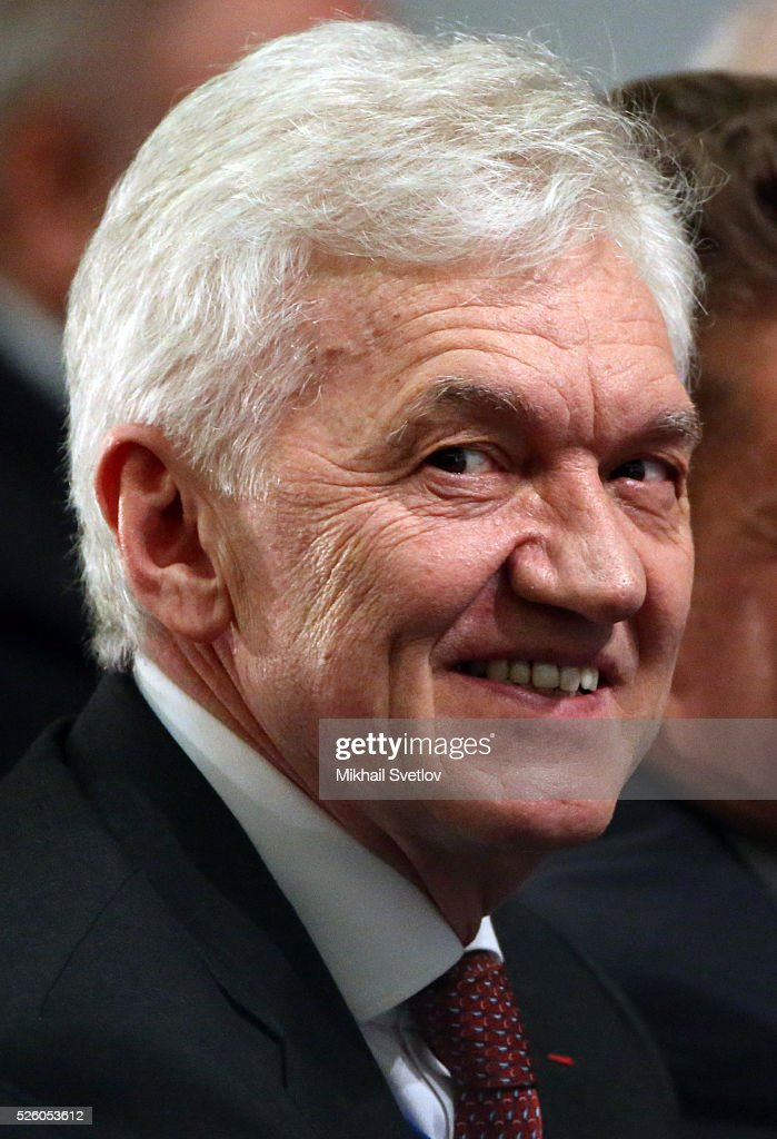 Russian billionaire and businessman <a gi-track='captionPersonalityLinkClicked' href=/galleries/search?phrase=Gennady+Timchenko&family=editorial&specificpeople=10841361 ng-click='$event.stopPropagation()'>Gennady Timchenko</a> attends the meeting of the Board of Trustees of the Russian Geographic Society on April 29, 2016 in Saint Petersburg, Russia. Putin is on a trip to Saint Petersburg.