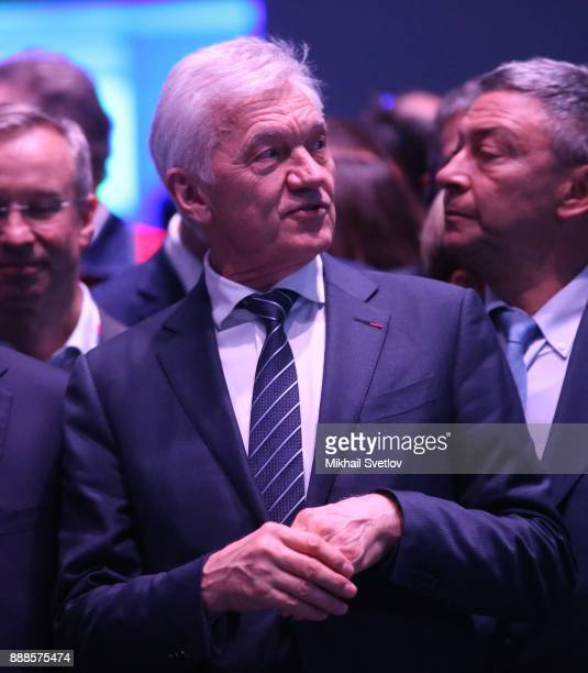 Russian billionaire and businessman Gennady Timchenko attends the first cargo loading ceremony while visiting the LNG plant in Sabetta sea port at...