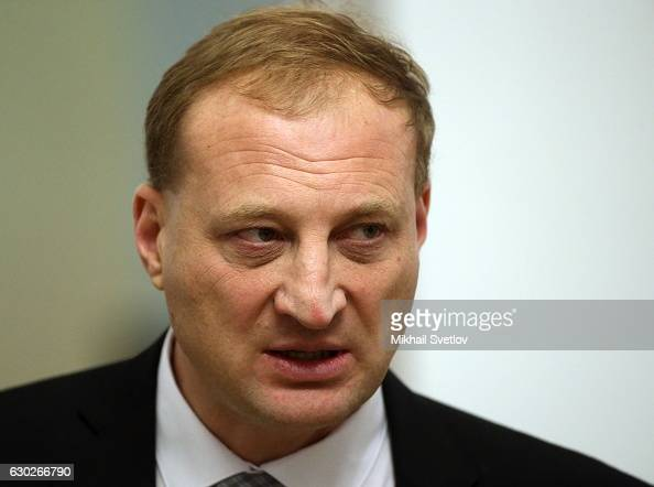 Russian billionaire and businessman Leonid Kazinets attends the meeting with representatives of business community and business associations at the...