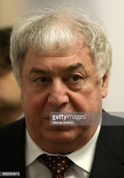 Russian billionaire and businessman Mikhail Gutseriyev attends the meeting with representatives of business community and business associations at...