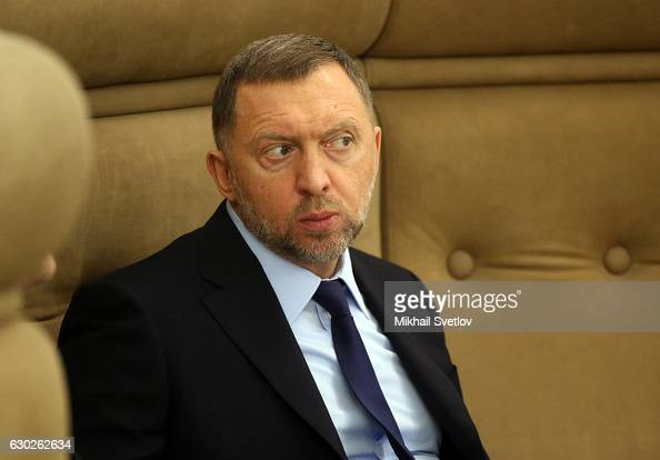 Russian billionaire and businessman Oleg Deripaska attends meeting with representatives of business community and business associations at the...