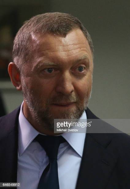 Russian billionaire and businessman Oleg Deripaska attends the meeting on sport development in the region on March 1 2017 in Krasnoyarsk Russia Putin...