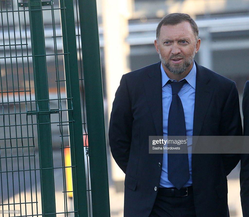 Russian billionaire and businessman Oleg Deripaska is seen visiting the RusVinyl RussianBelgian joint polymer plant near Nizhny Novgorod 430 km East...