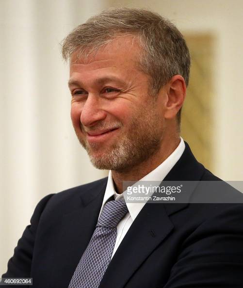 Russian billionaire and businessman Roman Abramovich attends a meeting with Russian President Vladimir Putin in the Kremlin on December 19 2014 in...