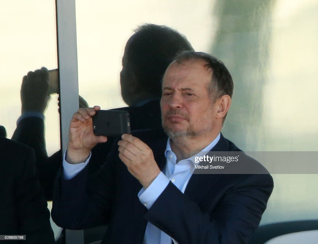 Russian billionaire and businessman Vladimir Lisin is watching the Formula One Russian Grand Prix at the Sochi Autodrom racetrack on May 1, 2016 in Sochi, Russia.