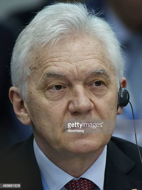 Russian billionaire Gennady Timchenko pauses during a session titled 'RussiaChina Strategic Economic Partnership on the closing day of the St...