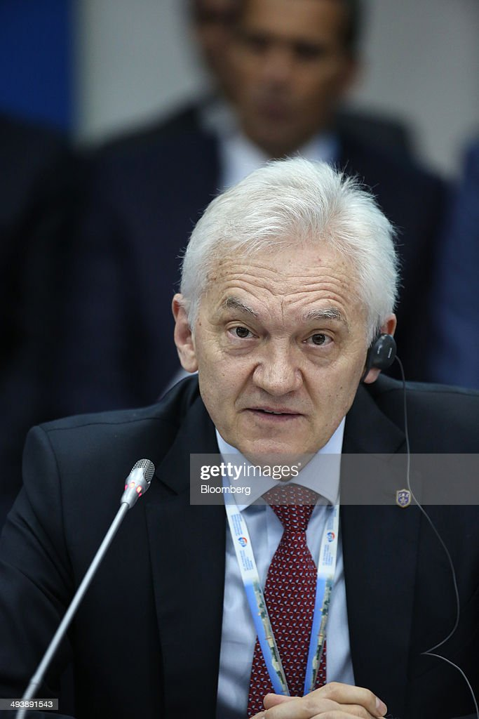 Russian billionaire <a gi-track='captionPersonalityLinkClicked' href=/galleries/search?phrase=Gennady+Timchenko&family=editorial&specificpeople=10841361 ng-click='$event.stopPropagation()'>Gennady Timchenko</a> speaks during a session titled 'Russia-China: Strategic Economic Partnership on the closing day of the St. Petersburg International Economic Forum (SPIEF) in Saint Petersburg, Russia, on Saturday, May 24, 2014. SPIEF is an annual international conference dedicated to economic and business issues which takes place at the Lenexpo exhibition center May 22-24. Photographer: Chris Ratcliffe/Bloomberg via Getty Images
