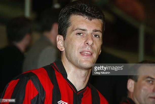 Russian billionaire Mikhail Prokhorov takes part in a game of football on July 2002 in Norilsk Russia French authorities have detained Prokhorov for...