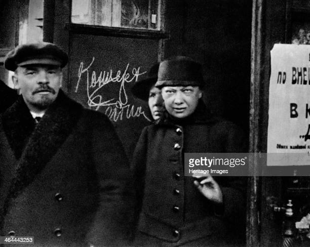 Russian Bolshevik leader Vladimir Lenin and his wife Nadezhda Krupskaya Russia 1922 Lenin and Nadezhda Krupskaya married in 1898 when they were both...