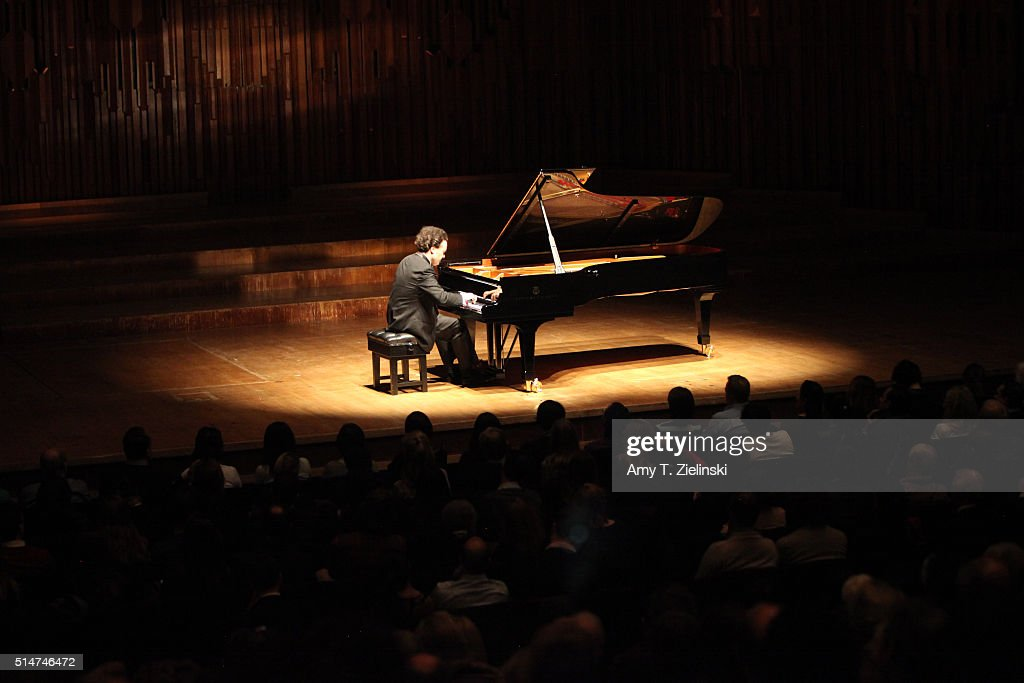 Russian born pianist Evgeny Kissin performs a solo piano recital works by composers Mozart Albeniz Brahms Larregla and Beethoven's 'Appassionata' on...