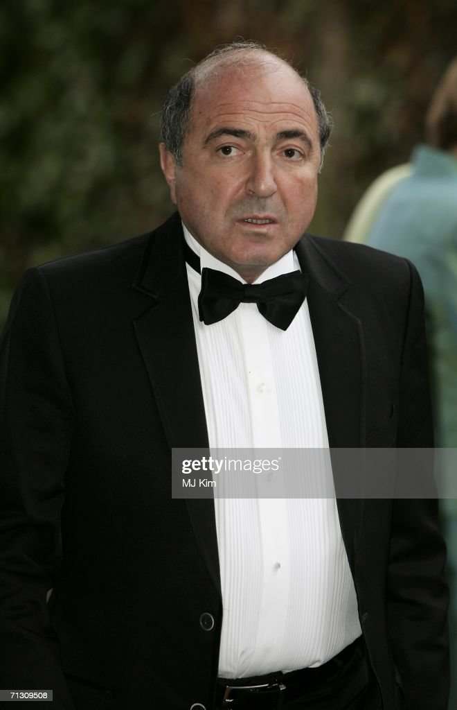 Russian business man Boris Berezovsky arrives at the fundraising event 'Elephant Durbar' arranged by London-based charity, elephant family on June 27, 2006 in Richmond, England.